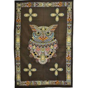 """Other - 54"""" x 86"""" Owl tapestry - Dorm - Art Deco - Nature"""